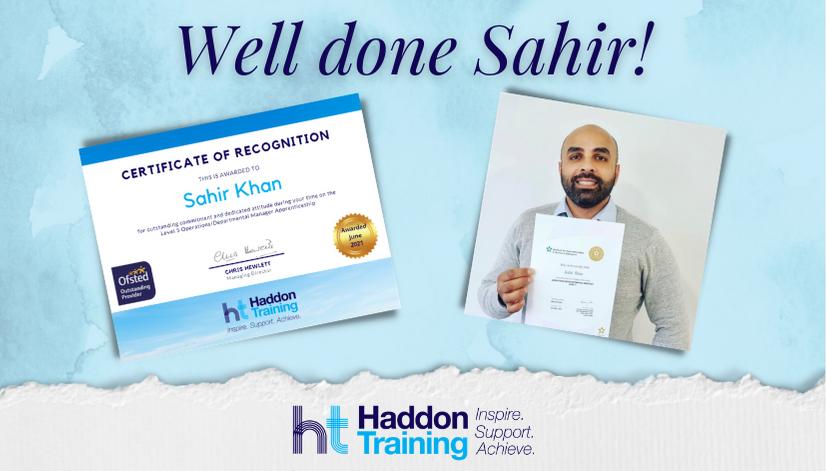 Sahir Khan certificate of recognition